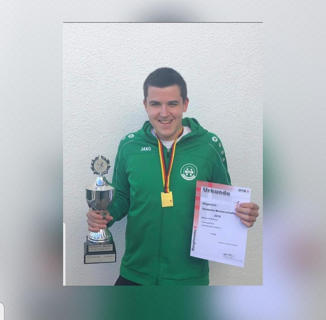 Deutsche Meisterschaft in Kieselbronn- Titelgewinn für die Ringtennisspieler